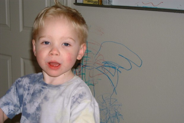 One of Our Dry-Erase-Marker-Wall Artists