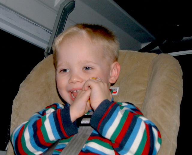 Kyle in the camper van