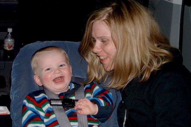 Me and Easy in in the camper van