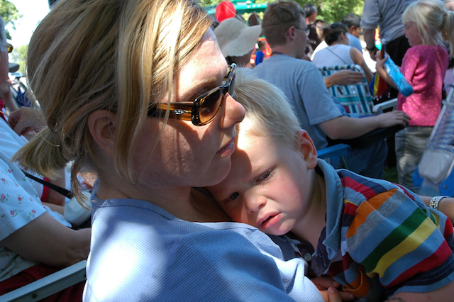 Me and Easy E, at the Pioneer Day Parade, Liberty Park, Salt Lake City, Utah