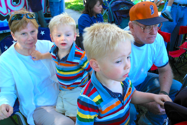 Wawa, harv and the boys at the Pioneer Day Parade, Liberty Park, Salt Lake City, Utah