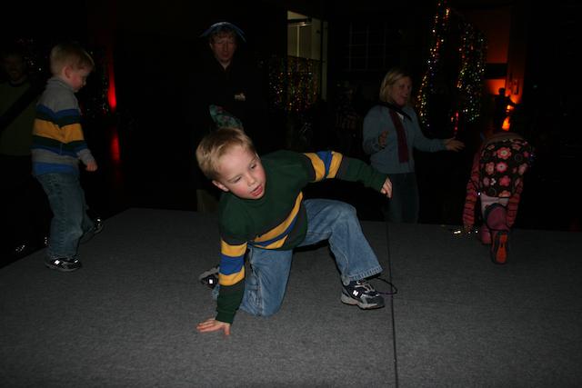 First Night Salt Lake City, Utah: Kyle showing us his sweet dance moves