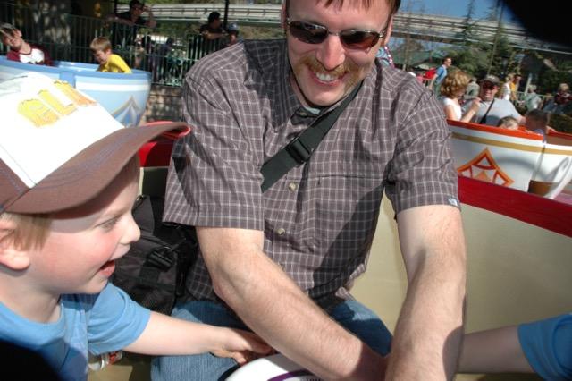The Duke on the Teacups. Disneyland, Anaheim, California