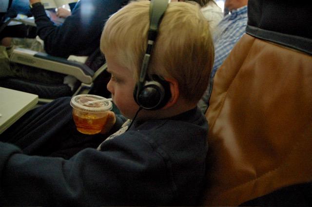 Easy E on a flight to California -- Copyright CrazyUs.com