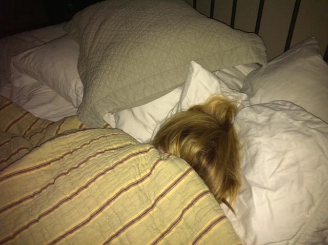Apparently that is me sleeping. he he