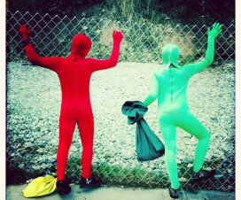 Red & Green Morphsuit Dudes