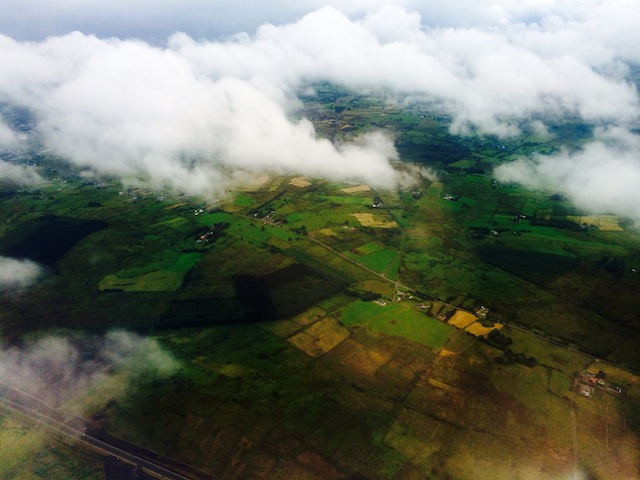 Flying over Knock, Ireland