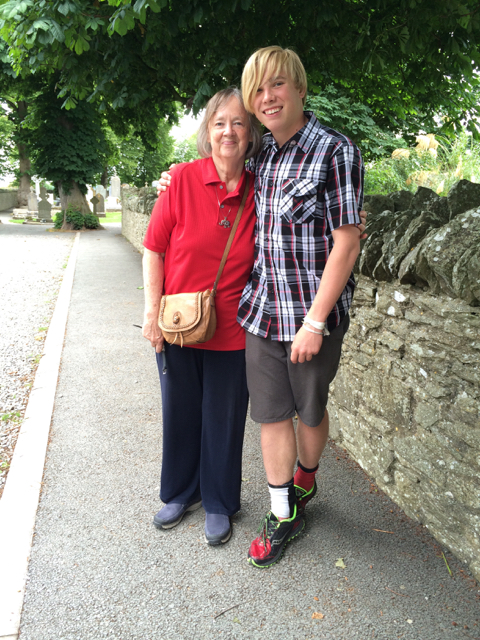 Kyle and our favorite traveling companion, Grandma (DeAnne, Dave's mom). Ireland