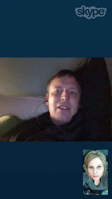 Skype-ing with Big Daddy
