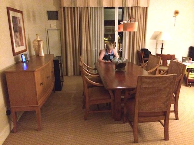 Hyatt Regency Indian Wells Hospitality Suite Dining Room Table