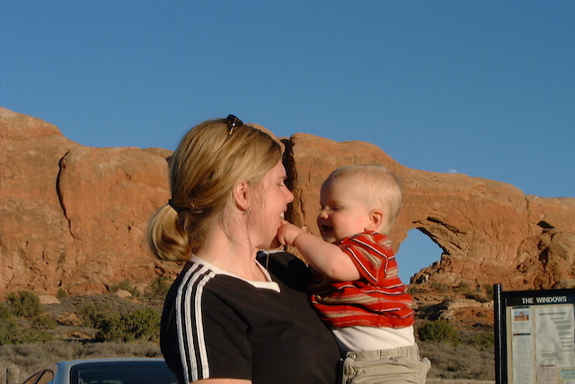 Me and Easy E. October 16, 2002. Kyle and Eli's first trip to Moab