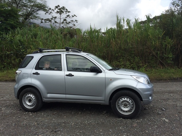 Our Budget rental car, Costa Rica
