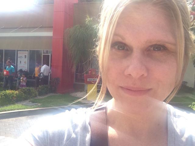 Me outside of the Liberia, Costa Rica McDonalds