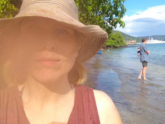 Us at the beach of the Andaz Papagayo