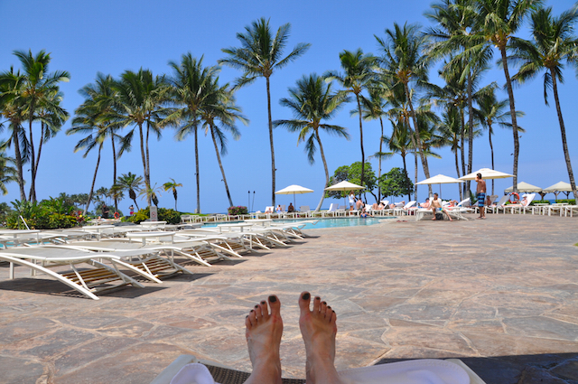 Poolside at the Fairmont Orchid, Big Island, Hawaii