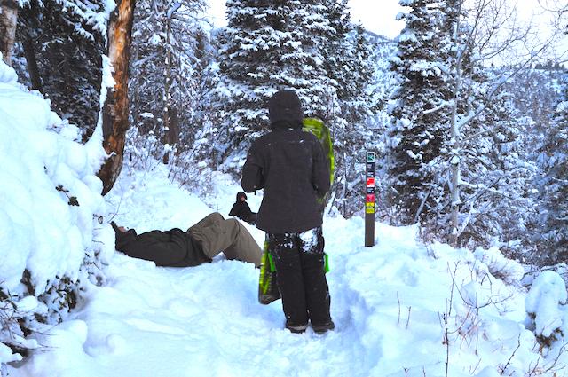 Sledding Rob's Trail, Park City, Utah