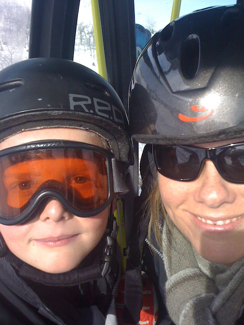 Me and Easy E riding the gondola at the Canyons Ski Resort, Park City, Utah