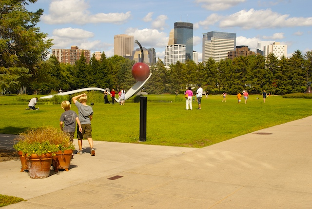 The Minneapolis Sculpture Garden at the Walker Art Center, Minnesota