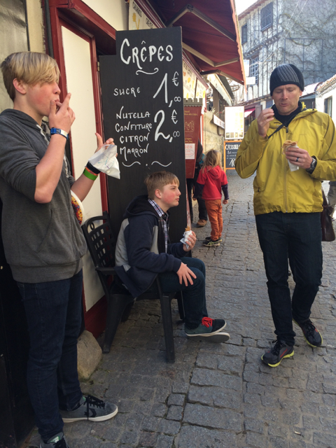 Dave and the boys, Carcassonne, France