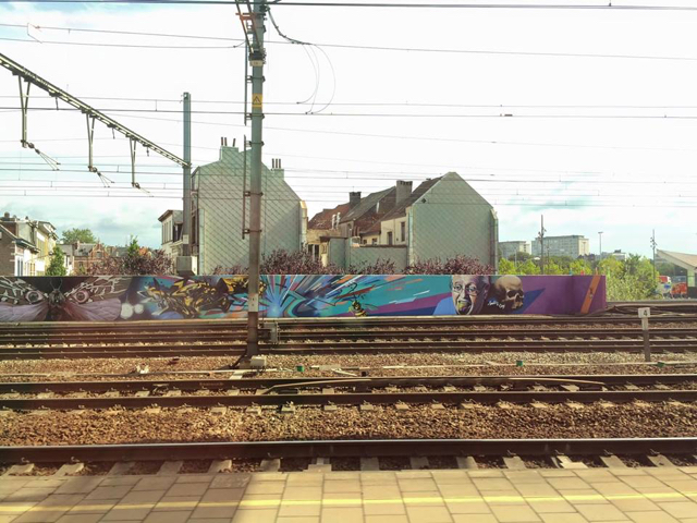 On the train leaving Antwerp, Belgium: Antwerp Central Train Station