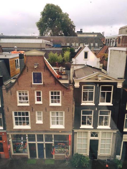 Amsterdam seen through my hotel window