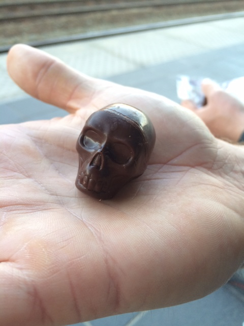 The Dark Chocolate Skull Candy I am obsessed with