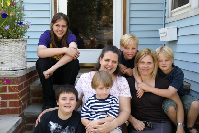 Visiting my Staten Island, New York, sister, Thea and here family, June 2009.
