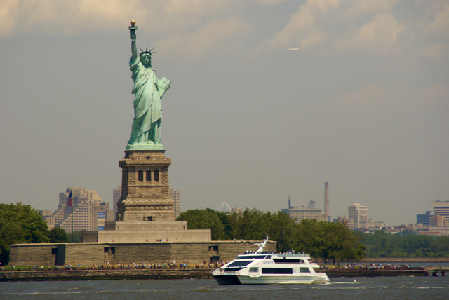 The Statue of Liberty seen from the Staten Island Ferry, New York City, 2009