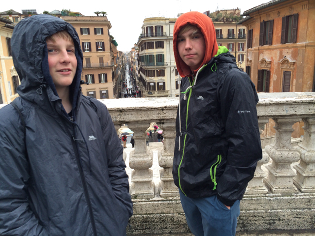 The Spanish Steps in the rain. Rome, Italy