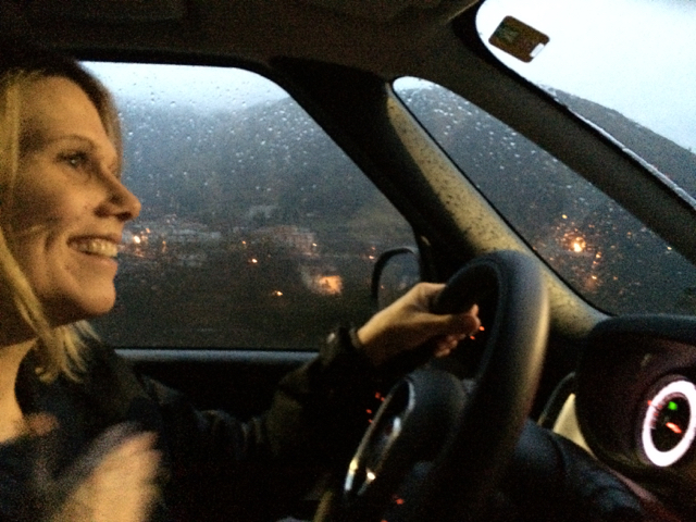 Driving back to Rome from the Amalfi Coast in a downpour