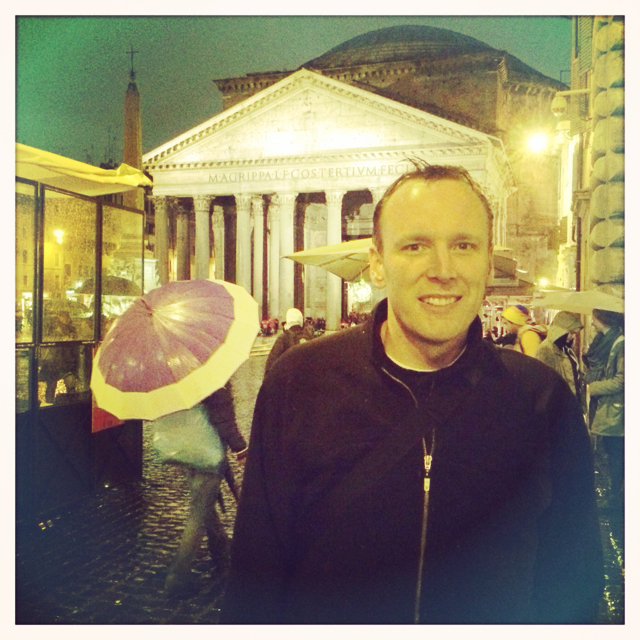 Dave outside of the Pantheon Rome, Italy