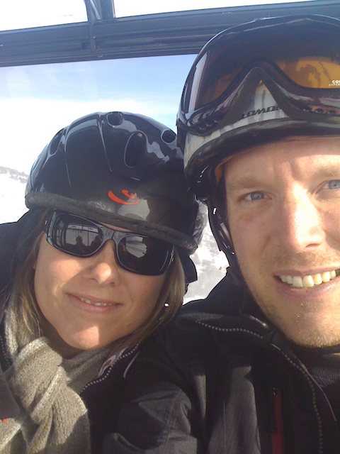 Dave and I, The Canyons Ski Resort. One of the last times I went skiing.