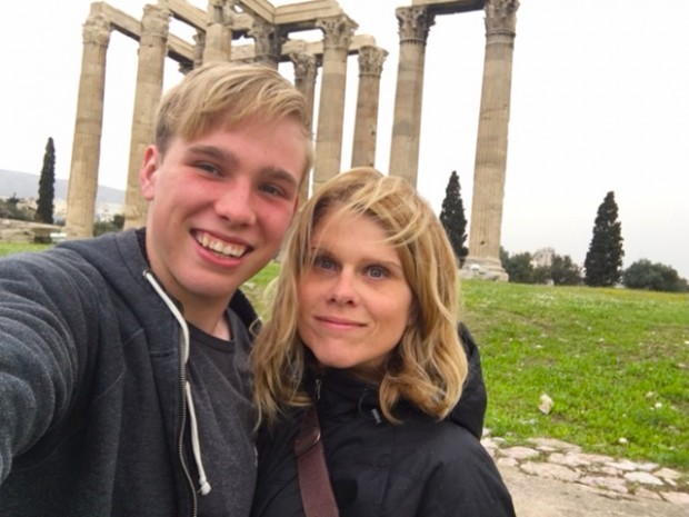 Kyle and I, Temple of Zeus, Athens, Greece