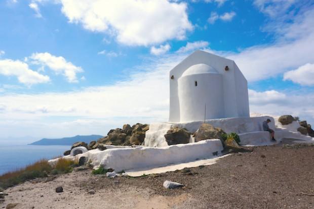 Walk from Fira to Oia, Greece