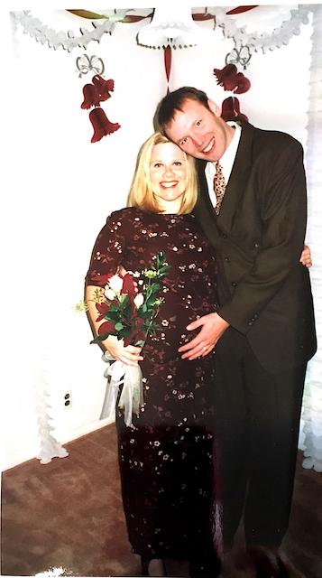 Dave and I at my sister, Brenda's wedding, October, 1999.