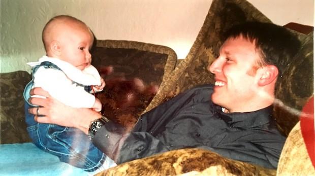 Dave and baby Kyle, Salt Lake City, Utah early 2000.