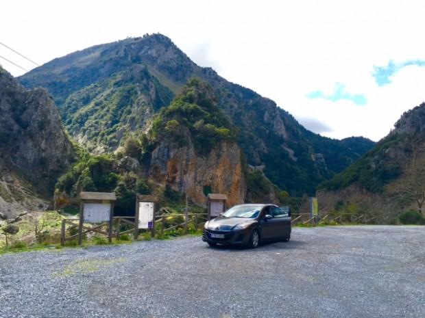 The mountains between Kalamata, Greece and Mystras.
