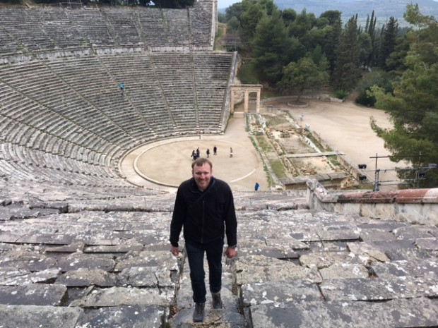 Dave at the Ancient Theater of Epidaurus