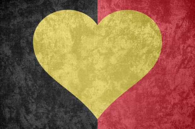 K. of Belgium, Grunge Heart, Belgium Flag