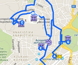 Static Athens, Greece Map