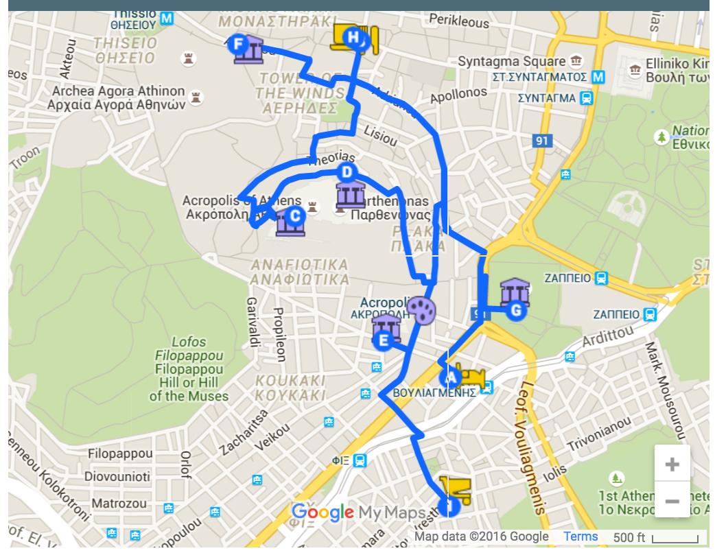 CrazyUs Itinerary: Walking Tour Athens, Greece - CrazyUS.com on crazy virginia, crazy california, crazy walmart, crazy directions map, crazy rush limbaugh,