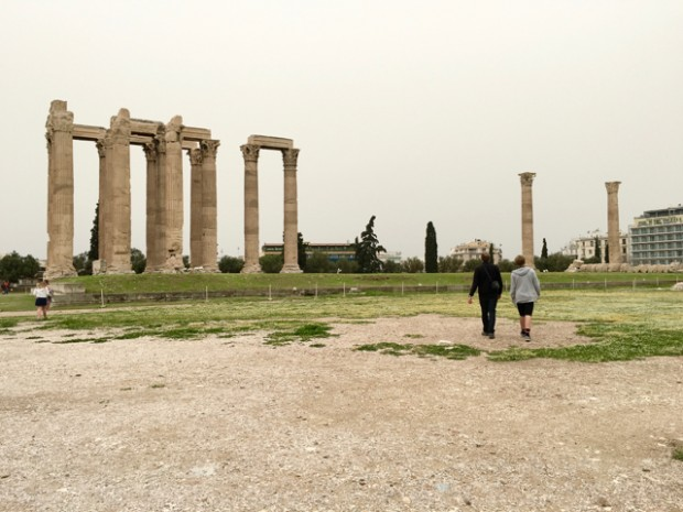 Dave and Easy E, Temple of Zeus, Athens, Greece