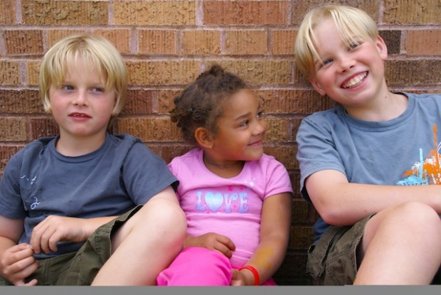 Eli, Makeda, Kyle, Minnetonka, MN, July, 2009