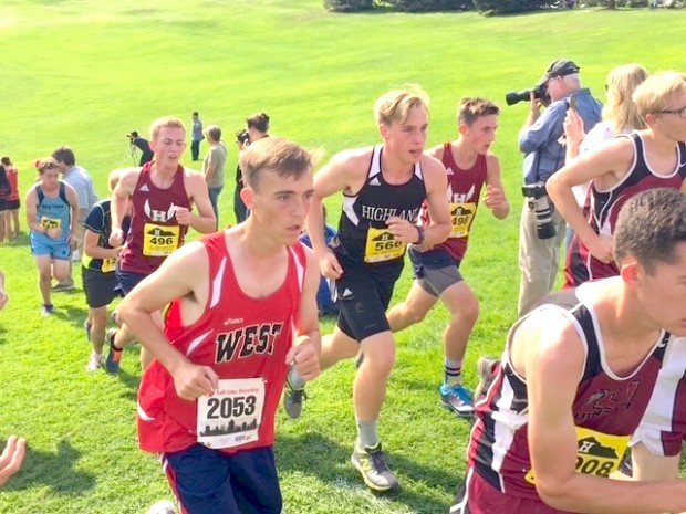 Kyle, Sugarhouse Park, Salt Lake City, Utah, August, 2016. Running the highland Cross Country Invitational.