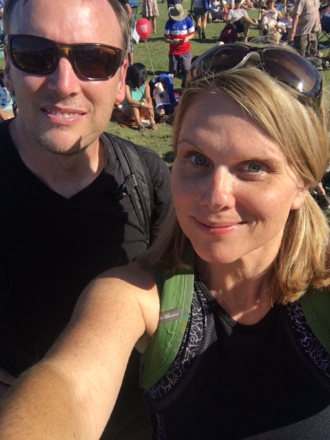 Dave and I moments after entering the Austin City Limits Music Festival, Day 1, Austin, Texas