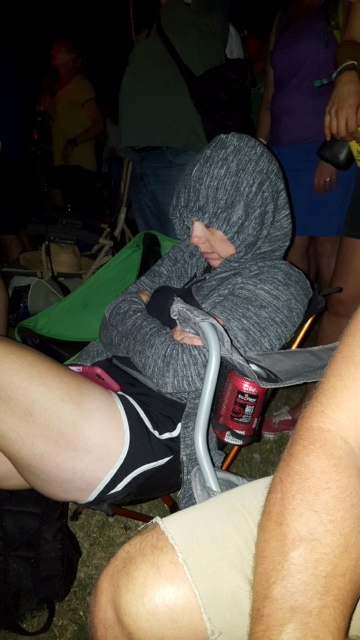 Me literally asleep during the Radiohead Concert. ACL Music Festival, Austin, Texas