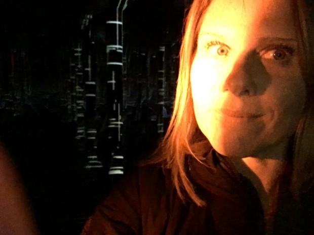 Me inside the Buffalo Bayou Park Cistern, Houston, Texas