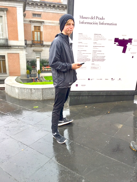Easy E outside of the Prado Museum, Madrid, Spain, November, 2016
