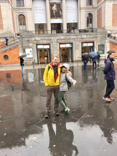 Dave & I outside of the Prado Museum, Madrid, Spain, November, 2016