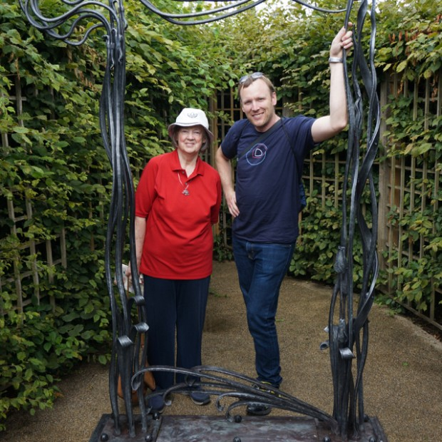 Dave and his mom, DeAnne, Hampton Court, England, July, 2014